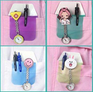 6 soportes de bolsillo mate para protección de bolígrafos, multifunción