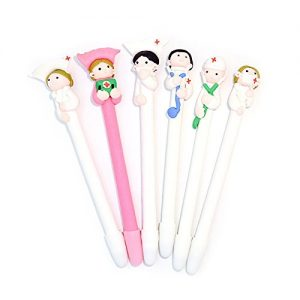 Pack de 6 bolígrafos con figuras de enfermeras