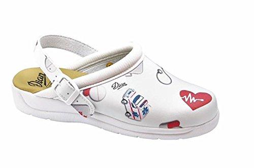 Dian Pisa con Estampado enfermero - Zapatos hospitalarios