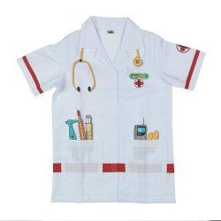 Disfraz para niños bata médico o enfermera