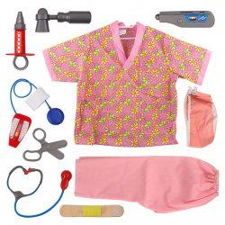 Disfraz rosa con accesorios