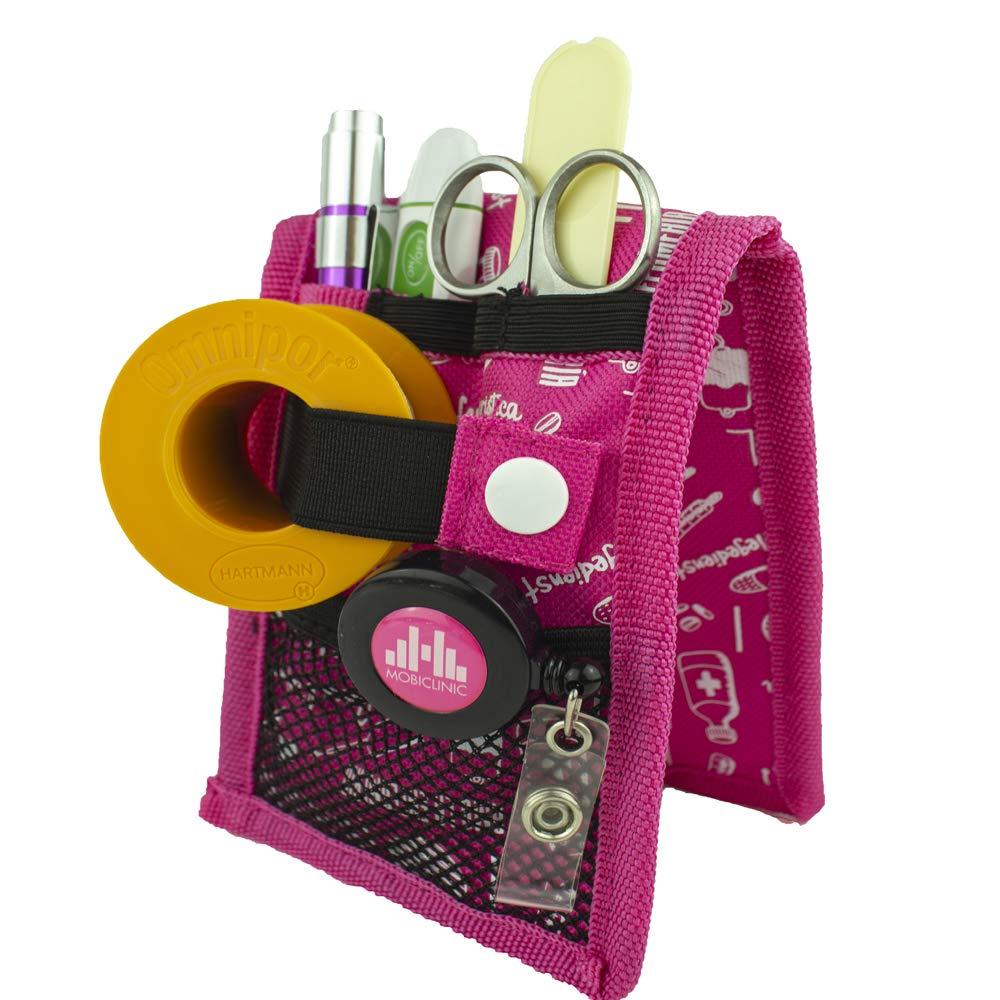 Organizador de bolsillo estrecho rosa