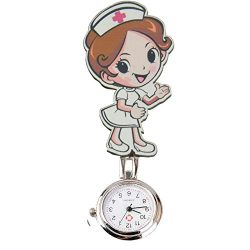 Reloj de bolsillo de cuarzo de la marca SENCEE, diseño de enfermera