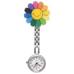 Reloj de enfermería con forma de margarita de colores