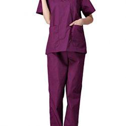 pijama enfermero morado