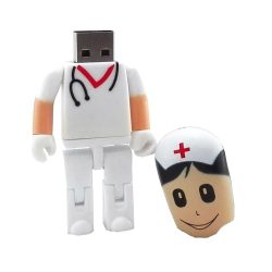16 GB pendrive enfermera médico cirujano USB Flash Drive Memory Stick White Nurse 16 gb