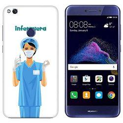Carcasa Huawei P8 Lite 2017 enfermera de quirófano con jeringa