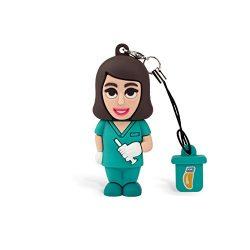 Dispositivo de almacenamiento USB 2.0 de 8 GB con forma de enfermera y función de llavero