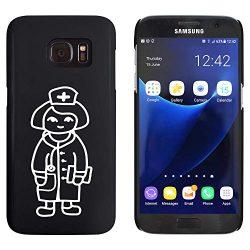 'Enfermera Amistosa' Funda-Carcasa negra para Samsung Galaxy S7