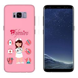 Funda Galaxy S8 Carcasa Samsung Galaxy S8 Las mujeres trabajan enfermera con fondo rosa